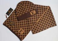 брендовая мода для мужчин оптовых-Горячая распродажа новинка зима и осень теплая шапка высокое качество шапка мужчины женщины шарф шапки вязаные шапки шарф регулируемый новый бренд G1622