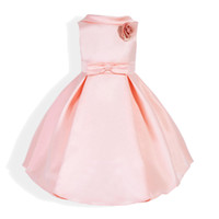 Wholesale new style girls clothes summer for sale - Group buy New Arrival Flower Girls Dresses Ball Gown dress camellia Peter pan collar Children Fashion Sleeveless Party Graduation Formal Kids Clothing