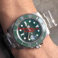 зеленая рамка автоматическая оптовых-AR новая модель лучшее качество роскошные часы 116610 2813 автоматический зеленый циферблат керамический безель мужские часы из нержавеющей стали 316L лучшие часы