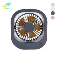 sessiz usb fanı toptan satış-Mini USB Masa Danışma Kişisel Fan 360 Derece Rotasyon Ultra-Sessiz Beş Dişli Hızı USB Soğutma Fanları