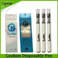 sacos canetas venda por atacado-Vape Pen descartável Biscoitos Cartas 350 mah Bateria Starter Kit e cigarros Cartuchos Saco De Embalagem Cerâmica 0.5 ml Vazio Vaporizador De Espessura Oil-1