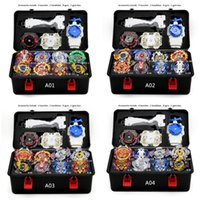 Wholesale beyblade metal 4d fights toys resale online - TAKARA TOMYNew Beyblade Burst Set Arena Bayblade Set Metal Fusion Fighting Gyro D With Launcher Spinning Top Blades Toys