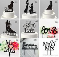acryl zubehör steht großhandel-Braut-Bräutigam-Kuchen-Deckel Hübscher Herr Frau Acryl Wedding Cake Toppers Zubehör Hochzeit Kuchen-Standplatz-Dekorationen