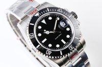 ingrosso eta 2836 automatico-Orologi da uomo di lusso Top V8 904L 116610LN ETA 2836 orologio meccanico automatico nero cornice in ceramica luminosa orologio subacqueo DHL LIBERA il trasporto