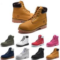 5e5ce8f0429 Timberland boots designer 10061 timberlands Date Timberland Bottes De Luxe  Hommes Femmes Designer Martin Botte Châtaigne Triple Noir Blanc Camo Bottes  ...