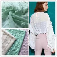 ciseaux en laine achat en gros de-Composé de soie grande boule de neige ciseaux licol haut robe femme tissu 75d polyester chiffon grosse balle de laine tissu ciseaux