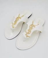 Wholesale big shoe slippers resale online - Women Sandals big size Desig Shoes flip flops sandals Summer Fashion Wide Flat Slippery With Sandals Slipper flip flops