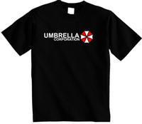 resident evil umbrella logo großhandel-RESIDENT EVIL T SHIRT, Regenschirm-Konzern-T-Shirt LOGO Unisex FREE UK PP
