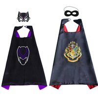 Wholesale costumes movies stars for kids for sale - Harry Potter Capes and mask sets cartoon cosplay Costumes cape mask set Halloween cape mask for Kids CM C5874