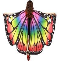 flügel für kostüme großhandel-Womail Butterfly Wings Schal Schals Damen Nymphe Pixie Poncho Kostüm Zubehör Schal Damen Feb21