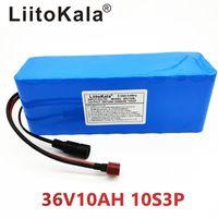ingrosso batteria al litio scooter-HK LiitoKala 36V 10Ah 500W alta powercapacity 42V litio 18650 batteria ebike auto elettrica bicicletta scooter con BMS