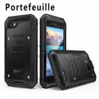 cajas móviles a prueba de agua al por mayor-Portefeuille para iphone 6 case ip68 metal impermeabiliza la cubierta de los casos para iphone 6s 6 s x 7 8 5s accesorios de teléfono móvil a prueba de agua C18112001