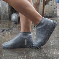 schuhe tragen regen großhandel-Schuhabdeckung Silikon Gel Wasserdicht Regen Schuhabdeckungen Wiederverwendbare Gummielastizität Überschuhe Rutschfest Unisex Verschleißfest Recycelbar RRA1823