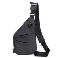 suporte de cintura de telefone venda por atacado-Homens titular do telefone mensageiro de viagem único ombro bolsa de cintura esportes casual peito pacote de lona suave