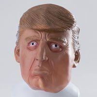 traje donald venda por atacado-20PC Donald Trump Máscara Billionaire presidencial Costume Latex Cospaly máscara para máscara de Halloween decorações do partido ornamento da celebridade