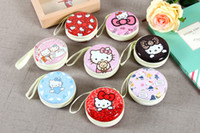 Wholesale hello kitty stationery resale online - Sales New Arrivals Modern Cartoon Kawaii Hello Kitty Coins Storage Boxes stationery Bag candy sundries Cute Storage Bins