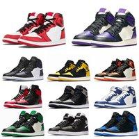 basketbol baskı ayakkabıları toptan satış-2020 1S Basketbol Ayakkabı Yüksek OG en iyi Chicago Arkalık Gölge Çok renkli Sneakers Boyutu 36-47 1s Bred Ayak Kraliyet Baskı Erkekler