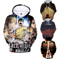 Wholesale attack on titan for sale - Attack on Titan Hoodie Men Hoodies D Realistic Sweatshirt Fancy Anime Girl Sweater Hooded Pullover Chic Jumper Outwear Family Gift Styles