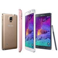 мобильные телефоны wifi android оптовых-Samsung Galaxy примечание 4 n910f в N910A N910V N910P 3G4G Андроида GSM 5.7