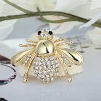 ingrosso spilla d'oro bling-Designer di lusso Spille Bling Bling Strass Pin Spilla per le donne Regalo Bee Brooch Jewelry Gold Silver In magazzino