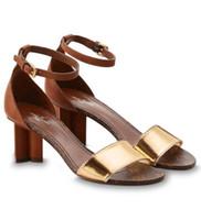 ingrosso scarpe da donna marrone per le donne-1a3syb Odyssey Sandalo Fashion New 6 Cm Heels Brown Gold Donna Tacchi alti Lolita pumps Scarpe Sneakers Dress Shoes