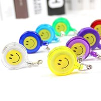 Wholesale smile badge holder for sale - Group buy Mixed Color Retractable Reel ID Badge Holder with Belt Clip Anti Lost Badge Pull Buckle Smile Badge Reel Holder For Students Worker N108Y