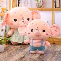 doldurulmuş oyuncak ahtapot toptan satış-25CM Çocuk oyuncakları Fil Dolması Doll Anime Ahtapot Peluş Oyuncak Karikatür Fil Ahtapot Doldurulmuş Hayvanlar Yastık Köpek Oyuncak Sleeping