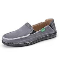 2f7542dfa Mens Denim Jeans Mocassins Deslizamento Em Sapatas de Lona Plana Loafer  Casual Sapatos de Convés Espadrille Condução Loafer Lazer Caminhadas  Sneakers ...