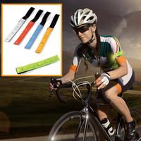 sangles de bras achat en gros de-5 couleurs de la dragonne réfléchissante de sécurité LED s'allume en cours d'exécution à vélo 4 bandes réfléchissantes pour le bras de la ceinture ZZA350