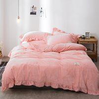 conjunto de lençol de bebê venda por atacado-FB1901005 lençol de veludo De Cristal espessamento inverno quente versão Coreana bebê puro velvet bedclothes cama de veludo coral 4 pçs / set