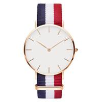 спортивные бренды оптовых-Новый 40 мм мужская Даниэль Веллингтон часы нейлон текстильный ремешок бизнес повседневная спортивный бренд кварцевые DW часы