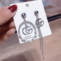 novos brincos de orelha venda por atacado-Luxo Borla Novo top Marca Designer Brincos Stud Ear Stud Brinco Jóias Acessórios para As Mulheres Presente de Casamento Livre shippin \