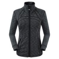 colete de jaqueta de esporte venda por atacado-Mulheres Canadá Casacos de grife Lu Slim Fit Esportes Elásticos Blusão Outono Winer Coats