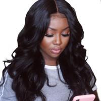 perücke schließen haar großhandel-180% Seide Basis 250% Dichte 13 x 6 volle Spitze Echthaar Perücken gezupft brasilianische Körperwelle Perücken mit 4 X 4 Seide Basis Schließung Remy Haar