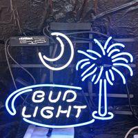 ingrosso segni di neon barra di luce bud-Bar di qualità BUD LIGHT Neon Sign Light Outdoor Display personalizzato Intrattenimento Decorazione Beer Neon Lampada Light Metal Frame 17 '' 20 '' 24 '' 30 ''