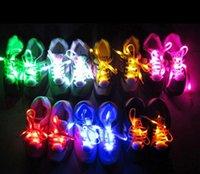 dentelles néon rougeoyantes achat en gros de-Led Lumière Lumineux Lacet De Mode Glowing Chaussures à lacets Clignotants De Couleur Néon Collants Chaussures Led Parti Lacets Huit Génération CY51