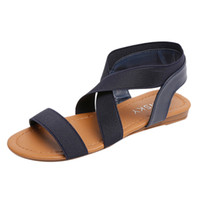 Wholesale brown peep toe sandals for sale - Group buy YOUYEDIAN Shoes Women Low Heel Peep toe Sandals Anti Skidding Cross Strap Sandals women casual flat mujer g2
