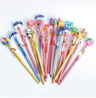 kalem için hayvan silgi toptan satış-2.0mm HB ahşap ile güzel hayvan kalemler kauçuk silgi ofis hediye ürünleri whoesale