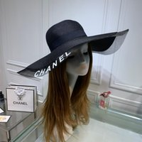 Wholesale white organza hats for sale - Group buy 2019 organza hats High grade screen yarn splicing black and white on the new listing beach of eaves Recommend