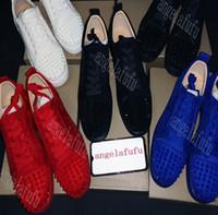 neue schnittschuhe design großhandel-neue Designs Schuhe Spike junior Wade Low Cut Mix Bottom ist Red Sneaker Luxus Party Hochzeit Schuhe aus echtem Leder Spikes Lace-up Freizeitschuhe