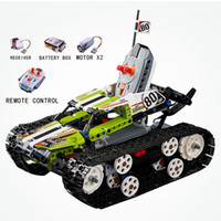 Wholesale track car racing for sale - HOT Compatible Legoing Technic RC Tracked Racer Building Blocks Fully Motorized Racing Car Brick Toys For Children