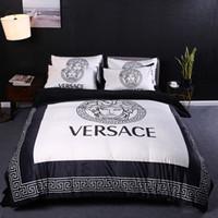 Wholesale brown print bedding resale online - MENGZIQIAN Luxury Bedding Bed Comforters Sets Fashion Designer King Size Bedding Set Four Pieces Set Digital Printing Bedding Sets