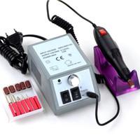máquina de limas de uñas pro herramientas al por mayor-Pro Powerful Electric Nail Art Drill Machine Equipo de uñas Manicure Pedicure Files Kit de herramientas de accesorios de taladro de manicura eléctrica