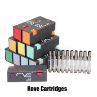 stylo à huile vide achat en gros de-Rove Vape Cartouche 1.0ml 1 gramme 0.8ml Réservoir vide de chariots en céramique pour le pétrole épais 510 Vape Pen 12 stylos Falvors