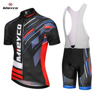 Wholesale bib shorts tops blue for sale - Group buy Coodoopai Bicycle Clothing Cycling Jersey Maillot Breathable Short Bike Suit Tops Wear Ropa Ciclismo Bib Pants Mountain Bike MTB Jersey Set