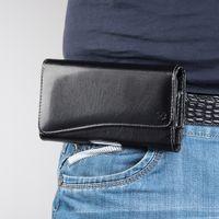carteira da caixa do telefone móvel da forma venda por atacado-5.5 polegada bolsa do telefone para samsung galaxy moda estojo de couro bolsa do telefone móvel belt bags para iphone x 6 6 s 7 8 plus carteira casos