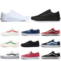 Wholesale branded golf clubs for sale - Group buy Cheap Brand Van old skool fear of god men women canvas sneakers classic black white YACHT CLUB red blue fashion skate casual shoes