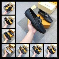 zapatos de vestir a cuadros de los hombres al por mayor-Newst Brand Plus Size Men Dress Shoes Zapatos de cuero de lujo estilo italiano zapatos formales de los hombres a cuadros vestido de fiesta oficina de la boda calzado