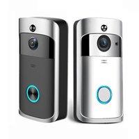 ingrosso telefono ip allarme-Videocitofono IP intelligente Videocitofono WI-FI Videocitofono Campanello WIFI Videocamera per campanello per appartamenti Videocamera di sicurezza senza fili di allarme IR