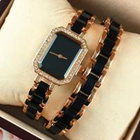 popüler kadın saatleri toptan satış-Özel Yeni stil gül altın kadın saatler elmas lüks parti bayan elbise kadın moda saatler popüler yüksek kalite kızlar için hediyeler